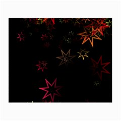 Christmas Background Motif Star Small Glasses Cloth (2 Side)