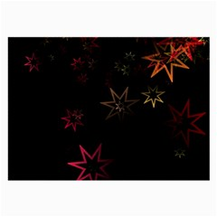 Christmas Background Motif Star Large Glasses Cloth (2 Side)