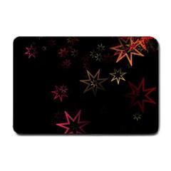 Christmas Background Motif Star Small Doormat