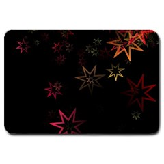 Christmas Background Motif Star Large Doormat