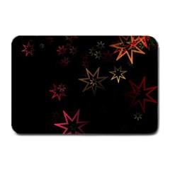 Christmas Background Motif Star Plate Mats