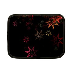 Christmas Background Motif Star Netbook Case (small)