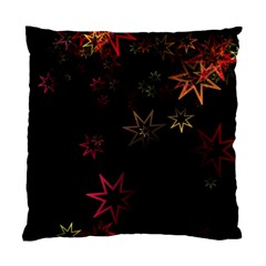Christmas Background Motif Star Standard Cushion Case (two Sides)