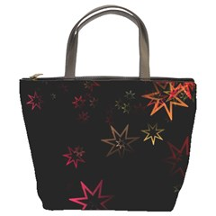 Christmas Background Motif Star Bucket Bags