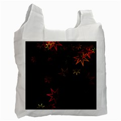 Christmas Background Motif Star Recycle Bag (Two Side)