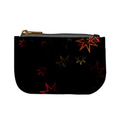 Christmas Background Motif Star Mini Coin Purses