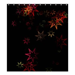 Christmas Background Motif Star Shower Curtain 66  x 72  (Large)