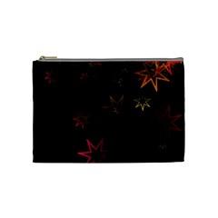 Christmas Background Motif Star Cosmetic Bag (medium)
