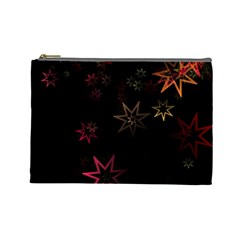 Christmas Background Motif Star Cosmetic Bag (large)