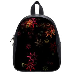 Christmas Background Motif Star School Bags (small)