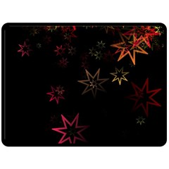 Christmas Background Motif Star Fleece Blanket (Large)
