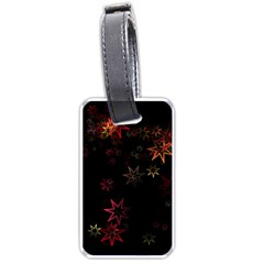 Christmas Background Motif Star Luggage Tags (one Side)
