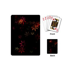 Christmas Background Motif Star Playing Cards (mini)