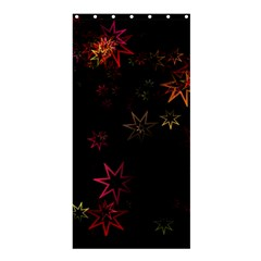 Christmas Background Motif Star Shower Curtain 36  X 72  (stall)