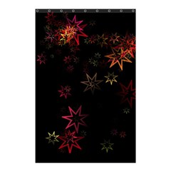 Christmas Background Motif Star Shower Curtain 48  X 72  (small)
