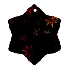Christmas Background Motif Star Ornament (snowflake)