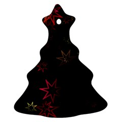 Christmas Background Motif Star Ornament (Christmas Tree)