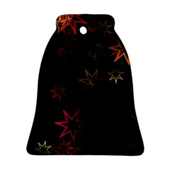 Christmas Background Motif Star Ornament (bell)