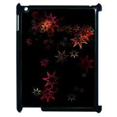 Christmas Background Motif Star Apple Ipad 2 Case (black)