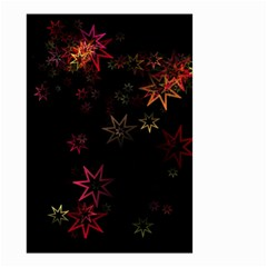 Christmas Background Motif Star Small Garden Flag (two Sides)