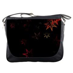 Christmas Background Motif Star Messenger Bags