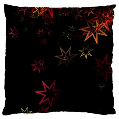 Christmas Background Motif Star Large Cushion Case (two Sides)