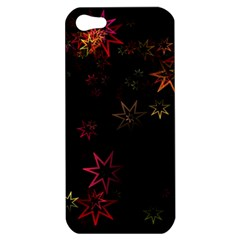 Christmas Background Motif Star Apple Iphone 5 Hardshell Case