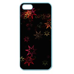 Christmas Background Motif Star Apple Seamless Iphone 5 Case (color)