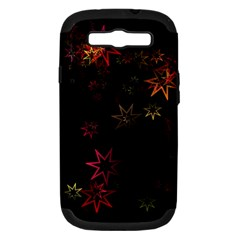 Christmas Background Motif Star Samsung Galaxy S Iii Hardshell Case (pc+silicone)