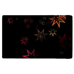 Christmas Background Motif Star Apple Ipad 2 Flip Case