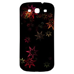 Christmas Background Motif Star Samsung Galaxy S3 S Iii Classic Hardshell Back Case
