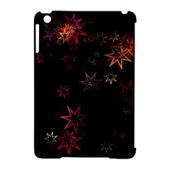 Christmas Background Motif Star Apple Ipad Mini Hardshell Case (compatible With Smart Cover)