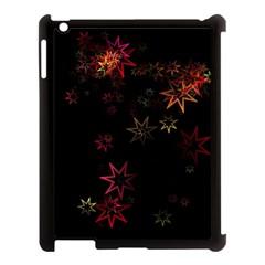 Christmas Background Motif Star Apple iPad 3/4 Case (Black)