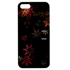 Christmas Background Motif Star Apple Iphone 5 Hardshell Case With Stand