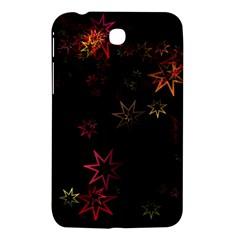 Christmas Background Motif Star Samsung Galaxy Tab 3 (7 ) P3200 Hardshell Case