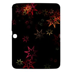Christmas Background Motif Star Samsung Galaxy Tab 3 (10 1 ) P5200 Hardshell Case