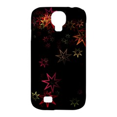 Christmas Background Motif Star Samsung Galaxy S4 Classic Hardshell Case (pc+silicone)