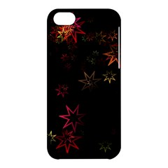 Christmas Background Motif Star Apple Iphone 5c Hardshell Case