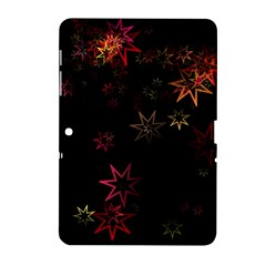 Christmas Background Motif Star Samsung Galaxy Tab 2 (10 1 ) P5100 Hardshell Case