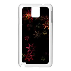 Christmas Background Motif Star Samsung Galaxy Note 3 N9005 Case (white)
