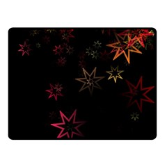 Christmas Background Motif Star Double Sided Fleece Blanket (small)
