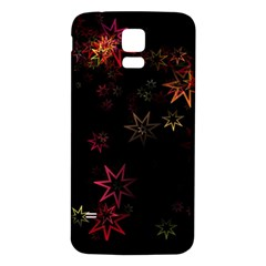 Christmas Background Motif Star Samsung Galaxy S5 Back Case (white)