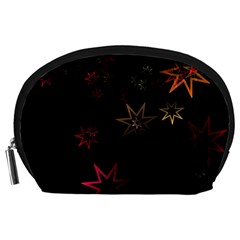 Christmas Background Motif Star Accessory Pouches (large)