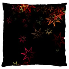 Christmas Background Motif Star Standard Flano Cushion Case (two Sides)