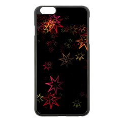 Christmas Background Motif Star Apple Iphone 6 Plus/6s Plus Black Enamel Case