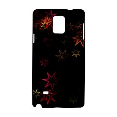 Christmas Background Motif Star Samsung Galaxy Note 4 Hardshell Case