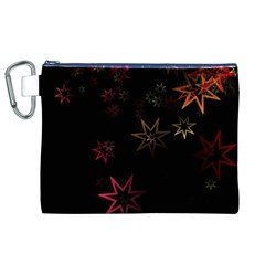 Christmas Background Motif Star Canvas Cosmetic Bag (xl)