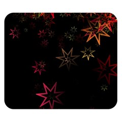 Christmas Background Motif Star Double Sided Flano Blanket (small)