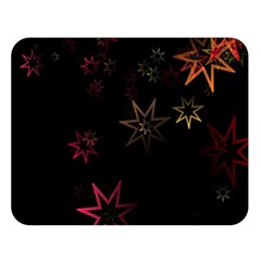 Christmas Background Motif Star Double Sided Flano Blanket (large)