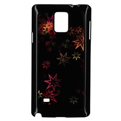 Christmas Background Motif Star Samsung Galaxy Note 4 Case (black)